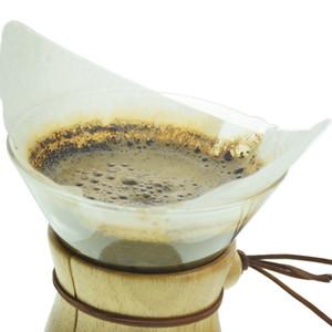Papel pote de vidro clássico Filtros 3Cups Pot 6cups Pot Filtros Acessórios de café 40Pcs Per Bag