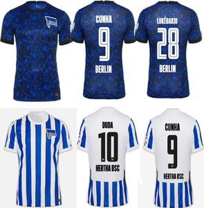 Piatek 20 21 Hertha BSC Fussball Trikots Duda Cunha Kalou Kopke Mittelstadt Torunarigha TOUSART 2020 2021 Hertha Berlin Home Football Hemd