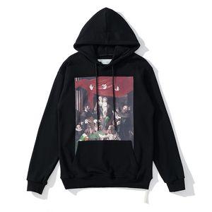 Мода хип-хоп ландшафтная живопись маслом Мужские толстовки напечатаны с капюшоном унисекс женщины с капюшоном вскользь Harajuku Pullovers Streetwear