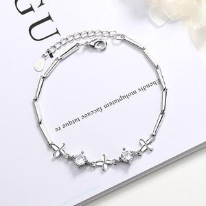 Bracelet ladies gift diamond lucky four-leaf clover bracelet net celebrity explosion style forest bracelet