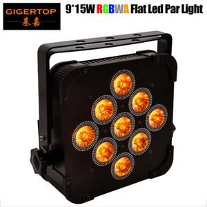 Lattine Gigertop TP-G3039-5IN1 5IN1 9x15W RGBWA Slim LED PAR Contenitore sottile Potenza in / out Presa per Club / Teatro / Wedding / Natale Led Lighting