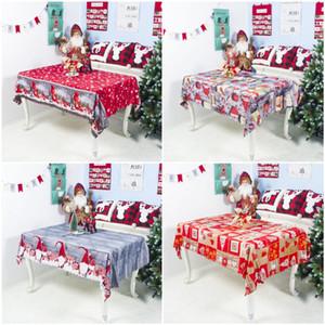 Polyester Toalha lavável Partido dos desenhos animados Natal New 7styles Natal Toalha de mesa toalha de mesa Decoração de 150 * 180 centímetros Boa Qualidade OWA1797