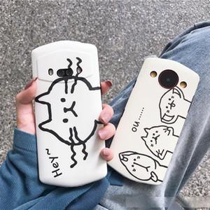 만화 고양이 Meitu 한정판 휴대 전화 쉘 T9 M1718 인기 브랜드 Meitu T8s 휴대 전화 쉘 여성 순 레드 V6 크리 에이 티브 Meitu M8