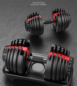 In Stock Adjustable Dumbbell 2.5-24kg Fitness Workouts Dumbbells Weights Build Your Muscles Sport Fitness Supplies Equipment Sea Shipping
