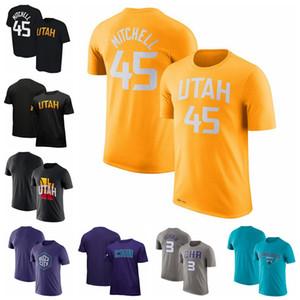 Мужчины 2021 Город Донован Митчелл Терри Розье ЮтаДжазшарлоткаШершнинба издание Родной город NameNumber Performance T-Shirt