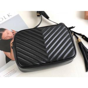 Женщины роскошные сумки из телячьей кожи натуральной кожи шеврон Кроссбоди сумка дизайнер бренд кошелек кисточка плечо мешок Lou камеры мешки