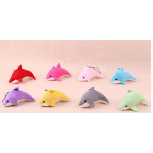 Lovely Dolphin Mixed Color Mini Cute Charms Kids Plush Toys Home Party Pendant Gift De sqczCR abc2007