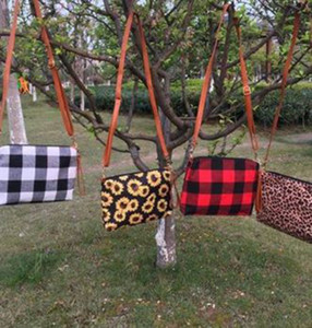 Plaid Sac bandoulière femmes Buffalo épaule sac à main d'embrayage sac cadeau Plaid Sac à bandoulière 4 couleurs KKA8125