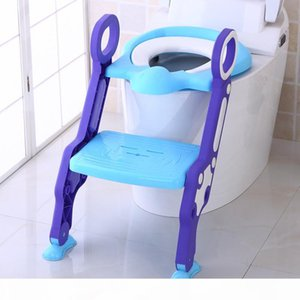 Baby Toilet Seat Stepped Folding Toilet Seat Cushion Child Adjustable Easy Clean Potty Seats Cover Candy Color Safe Toilet Seats CY BH2071