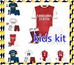 Arsen 20 21 Kids Kits Socks Soccer Jersey Thomas Pepe Gabriel Willian 20 21 Tierney Saka Gunners Camicie da calcio Bambini Bambini Set di bambini Unif