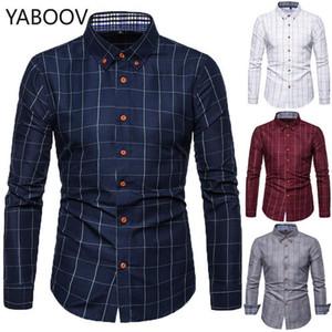 Camicie da uomo Abiti Camisa Masculina Regular Fit Plaid Manica lunga Camicia da uomo Plus Size M-5XL1