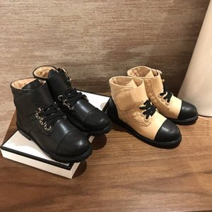 Femmes Plaid Tweed Plate-forme Bottines plates Top Patent Calfskin Martin Bottes Noir en cuir blanc vichy Lacets hiver Motorcycle Boot