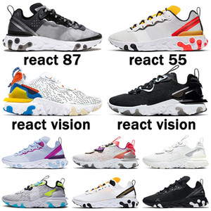 New Quality EPIC React Vision Element 55 87 Undercover Anthracite Men Women Running Shoes Black Iridescent Sneakers Trainers Sport Shoes