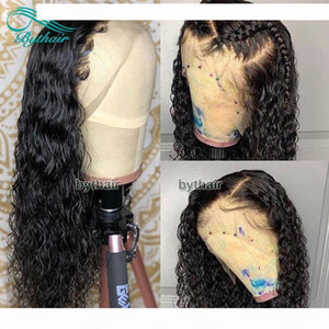 D Brazilian Virgin Human Hair Full Density 360 Lace Frontal Wig Curly Pre Plucked 13x4 Lace Front Wigs Black Women With Baby Hairs