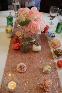 30 * 275cm Table Table Runner Gold Silver Table Table Pano Sparkly Bling para Decoração de Parte de Casamento Produtos Produtos EWD2750