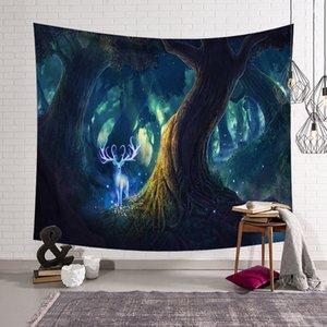 Tree Hanging Cloth Live Room Rental Room Decoration Wall Cloth Dormitory Bedroom Bedside Tapestry DHL Free