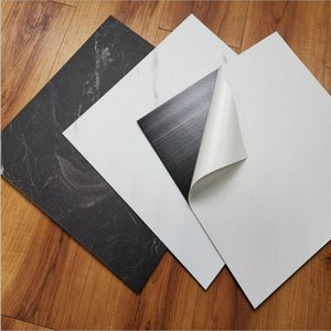 Neuer 30 * 30cm Wasserdicht SPE Boden Aufkleber Peel-Stick auf der Wand Self Adhesive Creamic Fliesen Küche Wohnzimmer-Dekoration