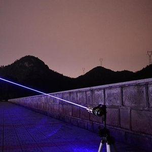 Powerful Blue Laser Pointer Torch 450nm 10000m Focusable Laser Sight Pointers Lazer Flashlight Burning Match bur qylsSs
