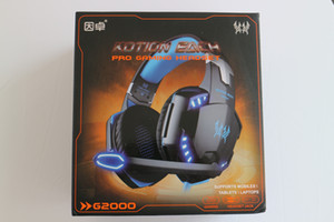 G2000 Deep Bass Наушники Стерео Окруженный Earge Gaming Heaming Headbot Headband Наушники с Светом для PC LOL Игры