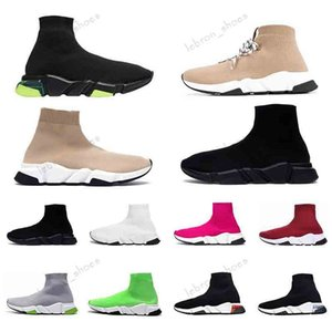 balenciaga ntel-up Çorap ayakkabı erkekler kadınlar için En Kaliteli 2019 casual Trile siyah kırmızı yeşil taban moda sneaker erkek eğitmenler boyutu 36-45