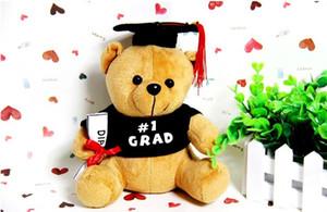 Novo 20cm Pelúcia Urso Dr. Urso Brinquedo Bonito Teddy Bear Pelúcia Animal Brinquedo Presente de Natal Criança Menino Menina Graduação Presente