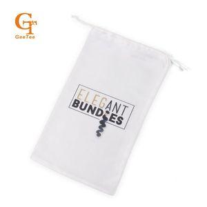 Custom Virgin Hair bundle packaging satin Bags , Stain Hair bundle Bags Handbags Women Extension gift packing satin
