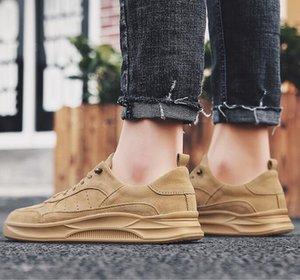 Hot casual shoes for men white wheat khaki shoes outdoor jogging flate skateboarding shoes mens trainers size 40-44