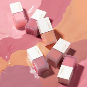 Лицо Жидкая румяна Blusher 6 Цвета Высококачественный пигмент Длительная натуральная щека Blush Cream Cosmetics