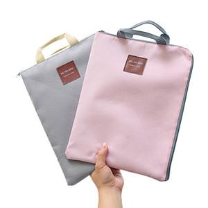 ملف A4 حقيبة قماش مجلد لطيف ملف المجلدات A4 حجم قماش محفظة جيب وثيقة الطلاب القرطاسية منظم حقيبة يد