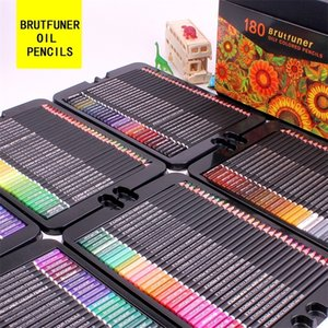Brutfuner 48 72 120 160 180Color Professional Oil Color Pencils Wood Sketching Colored Pencil School Art Supplies 201223