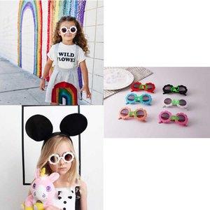 Ins Modas Unisex Girassol Girls Sunglasses Ultraviolet-Proof Kids Boys Glasses Designer Acessórios