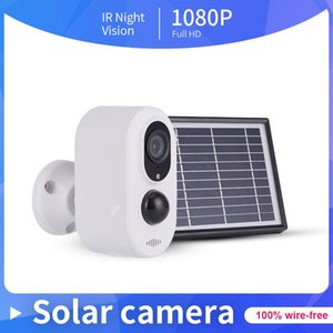 IP Camera 1080P Wireless Rechargeable Battery with Solar Panel Outdoor IP66 Weatherproof Home Security Wifi Camera PIR Motion