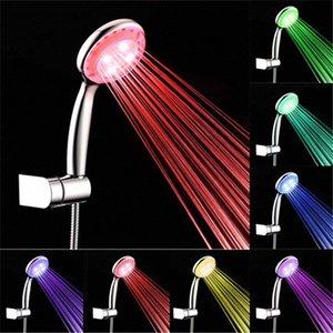 Hochwertige 4 LED Duschkopf Wasserhahn Licht 7 Farben ändern Badewanne Glühen-Dusche-Licht-Wasserstrom Leiter pJAg #