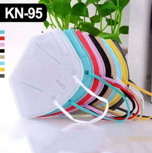 kn95 masks colorful face mask Factory 95% Filter 5 layer Disposable mask Non-woven Dustproof Windproof Respirator Fabric Protective facemask