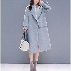 Fashion Women Wool Overcoat Solid Wool Long Coat Women Woolen Women Coat LJ201106