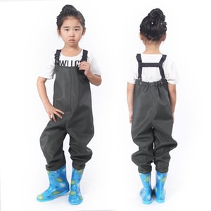 Children's PVC outdoor waterproof water jacket breathing size chef ballet pants shoes children camping fishing fork summer moon rain pants b