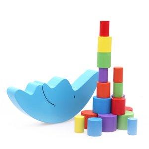Wood Moon Balance jeu Enfants Éducatifs pour jouets en bois Équilibrer Blocs Bébé Enfants Montessori