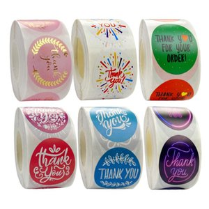 """500pcs Thank You Stickers Roll For Business Round Bronzing Gift Sealing Stickers 1.5"""" Handmade For Wedding Sealing"""