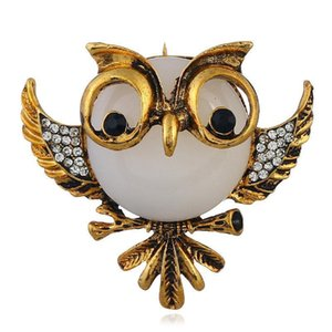 Fashionable European and American Fashion Dress Creative Cute Animal Pin Stereo Owl Brooch