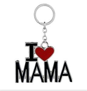 Ich liebe Papa Mama Mama Papa Schlüsselanhänger Metall Keychain Englische Brief Familie Schlüsselinhaber Vater Mutters Valentinstag Geschenk Party Favor LY122101