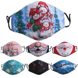 yüz maskesi Noel Santa Snowman tasarımcı fahion yüz maskeleri erkekler kadınlar 3D Baskı toz geçirmez siyah beyaz sıcak satış Facemask