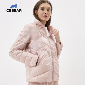 Icebear 2020 Primavera Ligera Abajo elegante chaqueta informal collar Mujer Mujeres Parka Gwy19556d