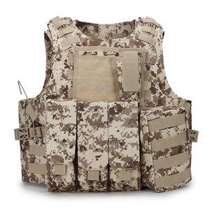 Maglia tattica di Paintball Vest Molle di combattimento Attacco bordo tattico CS abbigliamento outdoor caccia Ves