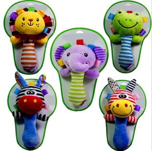 Stick stivaletto Teether Design animale Peluche Peluche Bibi BB BB Sound Nefty Baby Toys YH1543