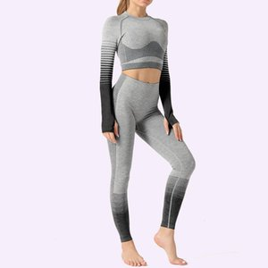 Winter Fashion Woman Designer Tracksuit Fitness Hollow Out pant sportwear gym wear clothes yoga set top flame leggings lady gym shark autumn
