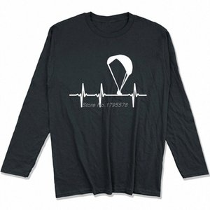 Parapendio Ecg maglietta Primavera Autunno Uomini cotone a maniche lunghe T-shirt divertente Hip Hop Tees Tops Harajuku Streetwear 9oHK #
