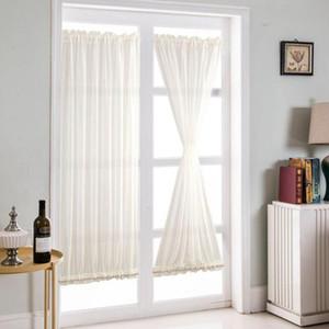 Bianco Porte a vetri Curtains - Blackout Patio Door / portello di vetro del pannello tenda per la privacy Home Decor