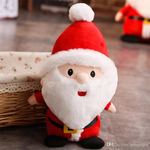 Wholesale Santa Claus Plush Toys Little Dolls Christmas Gifts size 23 40 50 cm Cotton Holiday Gift Xmas Ornament Home Decoration DH0108