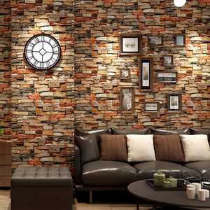 Peel and Stick Brick Wallpaper Stone Red grey Prepasted Contact Paper Bedroom Decor Self-adhesive Wall Stickers