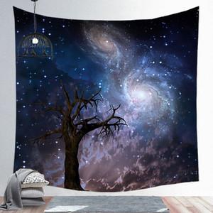 150 * 130cm Incroyable Nuit Starry Sky Star Star Tapisserie 3D Mur imprimé Image Picture Bohemian Plage Serviette Table Couvertures DBC 64 m2